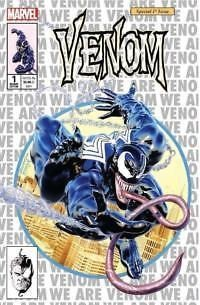 (Marvel) Cover for Venom #1 KRS / Unknown Comics Exclusive Mike Mayhew Amazing Spider-Man #300 Homage Silver Variant Limited to 1000