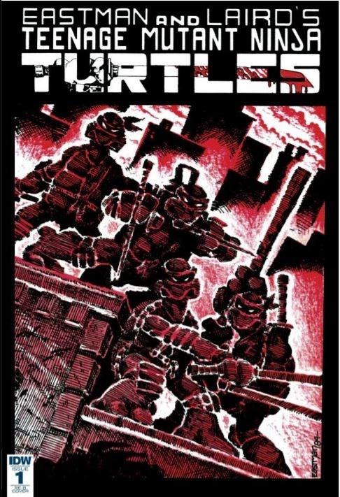 (Mirage Studios) Cover for Teenage Mutant Ninja Turtles #1 Frankie's Comics Oversize Reprint. Limited to 500 Copies