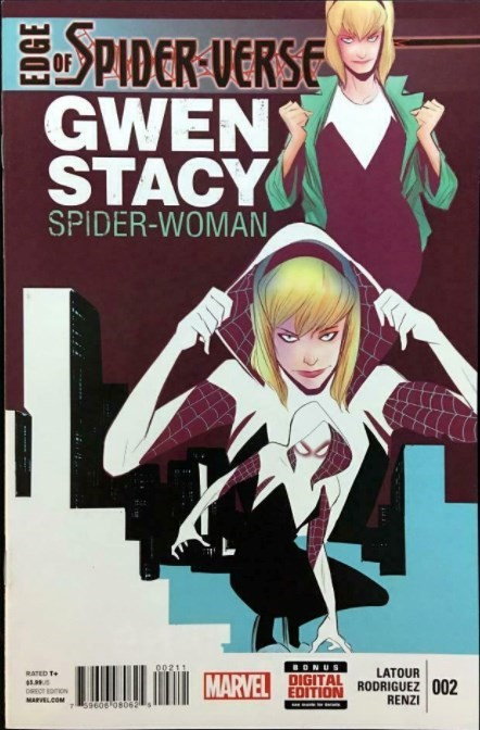 (Marvel) Cover for Edge Of Spider-Verse #2 First Appearance of Spider Gwen