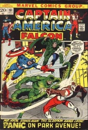 (Marvel) Cover for Captain America #151 Scorpion & Mr. Hyde Appearance