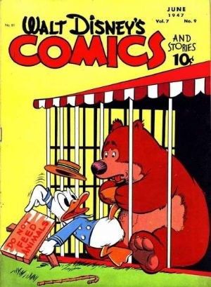 (Dell) Cover for Walt Disney's Comics And Stories #81 Art by Carl Barks.