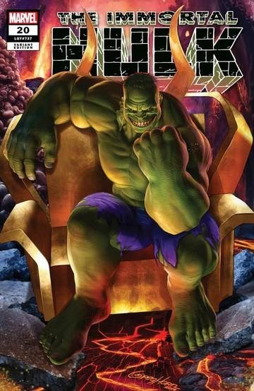 (Marvel) Cover for Immortal Hulk #20 ComicXposure Exclusive Greg Horn Variant Cover