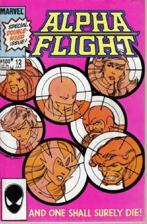 (Marvel) Cover for Alpha Flight #12 Double size, Heather Hudson joins Alpha Flight. Direct Edition.