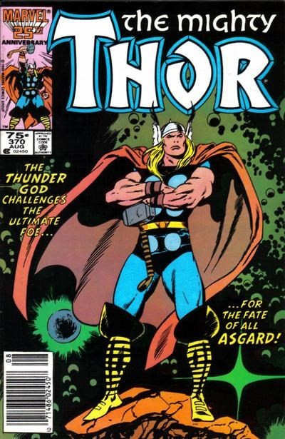(Marvel) Cover for Thor #370 Newsstand Edition