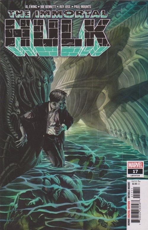 (Marvel) Cover for Immortal Hulk #17 Joe Fixit (Hulk) Appearance, 1st Appearance of Agent Glyn & Agent Smith