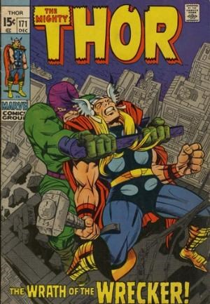 (Marvel) Cover for Thor #171 Wrecker Appearance, Final Silver Age Issue