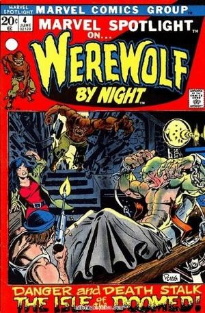 (Marvel) Cover for Marvel Spotlight #4 3rd Appearance of Werewolf By Night - 1st Appearance of Darkhold