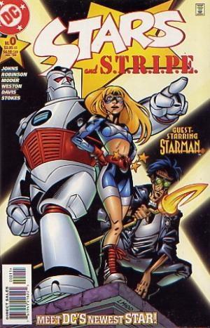 (DC) Cover for Stars & Stripe #0 1st Appearance of Stargirl (Courtney Elizabeth Whitmore) Aka: Star-Spangled Kid. 1st Appearance of Pat Dugan as S.T.R.I.P.E.