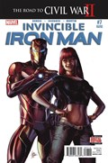 INVINCIBLE IRON MAN #7B  Variant Cover Second Printing