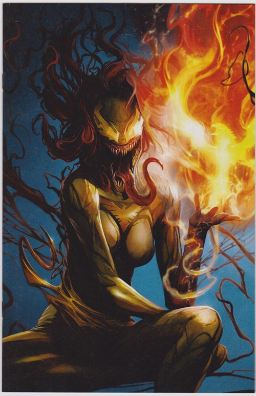 (Marvel) Cover for Jean Grey #1 Unknown Comics Exclusive Francesco Mattina Venomized Virgin Variant Cover C Limited to 1000