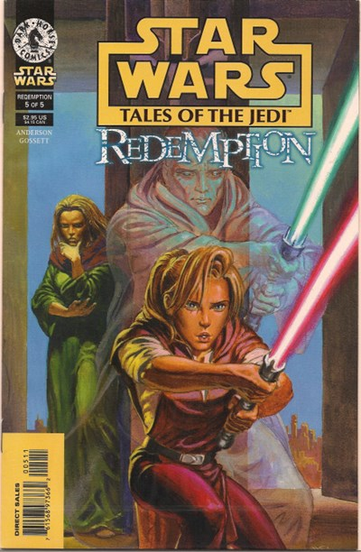 (Dark Horse) Cover for Star Wars: Tales Of The Jedi - Redemption #5 Death of Ulic Qel-Droma.