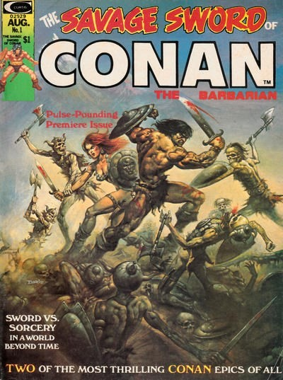 (Marvel) Cover for Savage Sword Of Conan #1 Boris Vallejo cover.