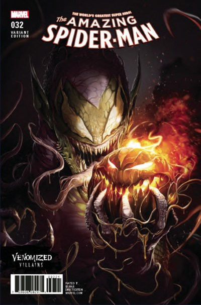 (Marvel) Cover for Amazing Spider-Man, The #32 Francesco Mattina Venomized Green Goblin Variant Cover