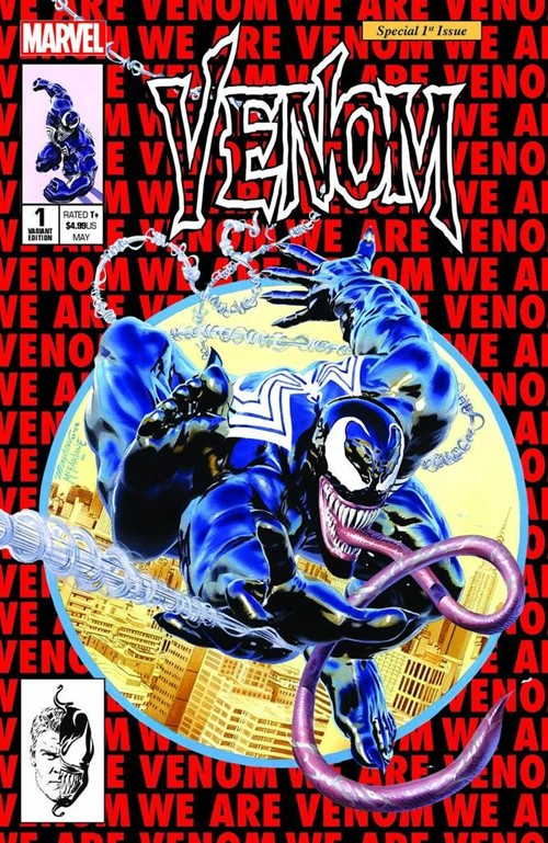 (Marvel) Cover for Venom #1 KRS / Unknown Comics Exclusive Mike Mayhew Amazing Spider-Man #300 Homage Variant Limited to 1000