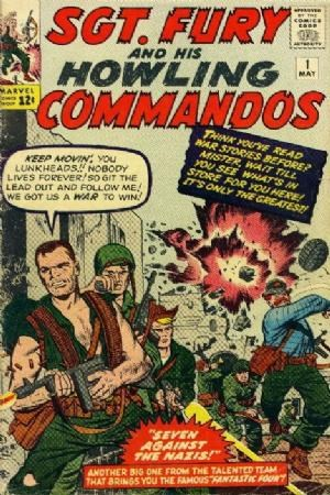(Marvel) Cover for Sgt. Fury And His Howling Commandos #1 First and Origin of Sgt. Fury and the Howling Commandos