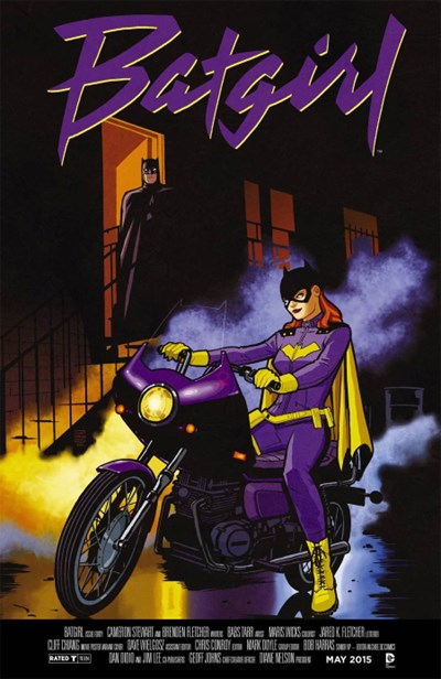 (DC) Cover for Batgirl #40 Cliff Chiang Movie Poster Variant Cover - Purple Rain