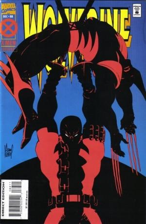 (Marvel) Cover for Wolverine #88 1st Wolverine Deadpool Fight - Deluxe Edition