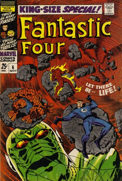 (Marvel) Cover for Fantastic Four #6 1st Appearance of Annihilus, 1st Appearance of Franklin Richards