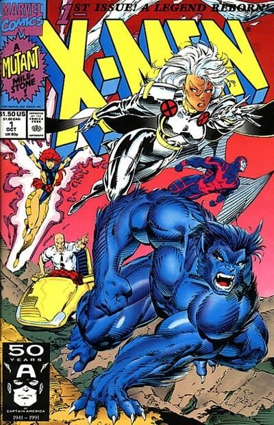 (Marvel) Cover for X-Men #1 Direct Edition. Storm and Beast Cover
