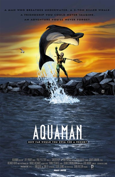 (DC) Cover for Aquaman #40 Richard Horie Movie Poster Variant Cover - Free Willy