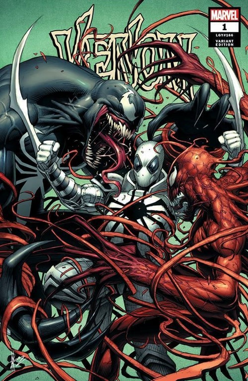 (Marvel) Cover for Venom #1 Arkham Comix Exclusive Dale Keown Variant Limited to 600