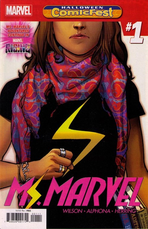 (Marvel) Cover for Ms. Marvel #1 Halloween ComicFest 2018 Edition