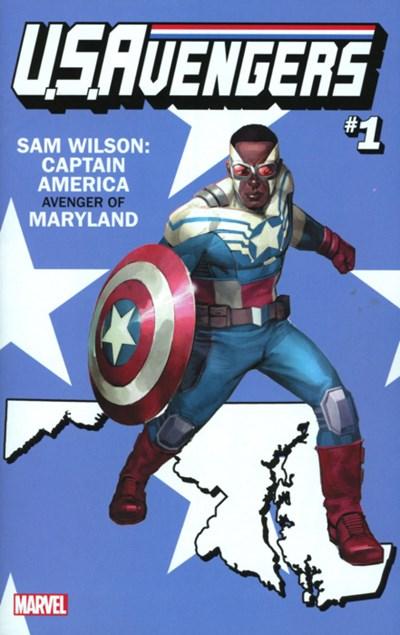 (Marvel) Cover for U.S.Avengers #1 Rod Reis Maryland State Variant Cover