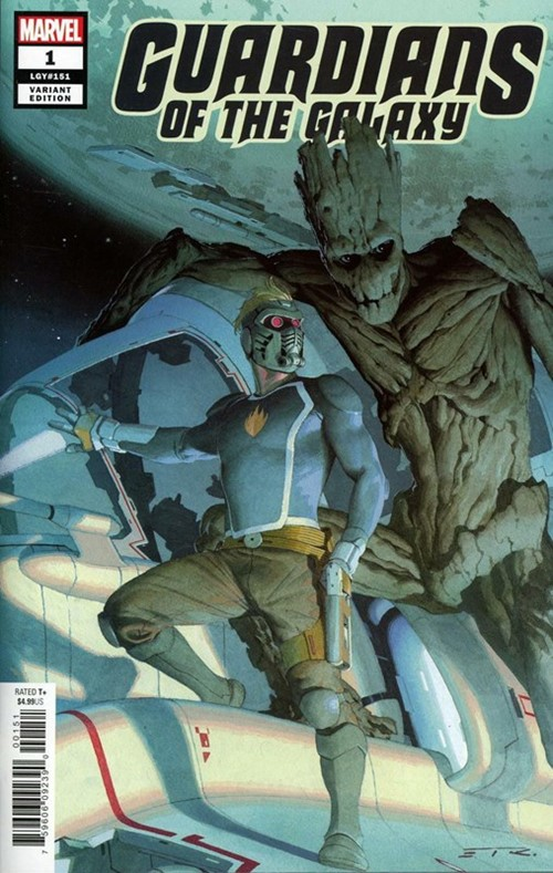 (Marvel) Cover for Guardians Of The Galaxy #1 Esad Ribic Variant Cover. Limited 1 for 50.