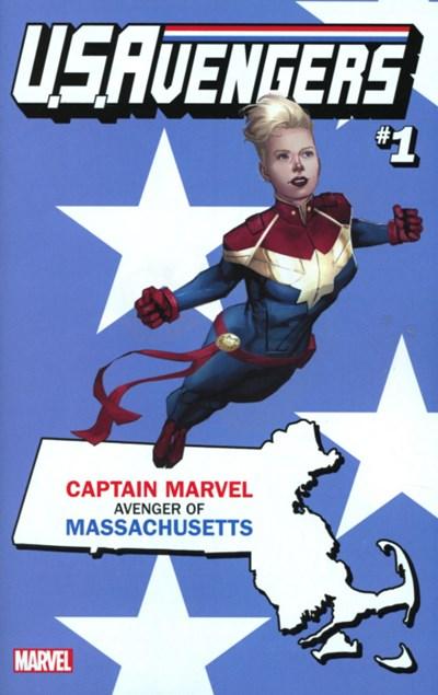 (Marvel) Cover for U.S.Avengers #1 Rod Reis Massachusetts State Variant Cover