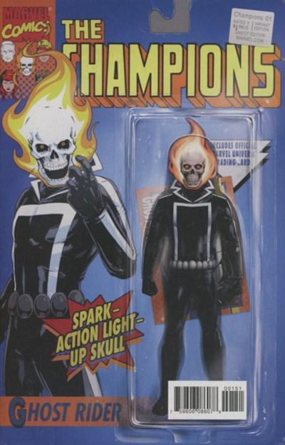 (Marvel) Cover for Champions #1 John Tyler Christopher Marvel Classic Action Figure Variant Cover