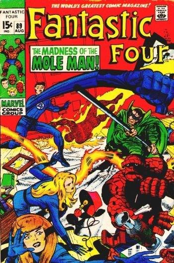 (Marvel) Cover for Fantastic Four #89 Mole Man, 1st Slave-Master Skrull Appearance