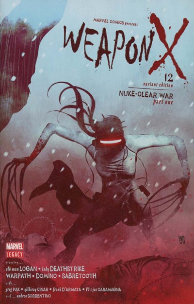 (Marvel) Cover for Weapon X #12 Andrea Sorrentino Variant Cover. Limited 1 for 25.