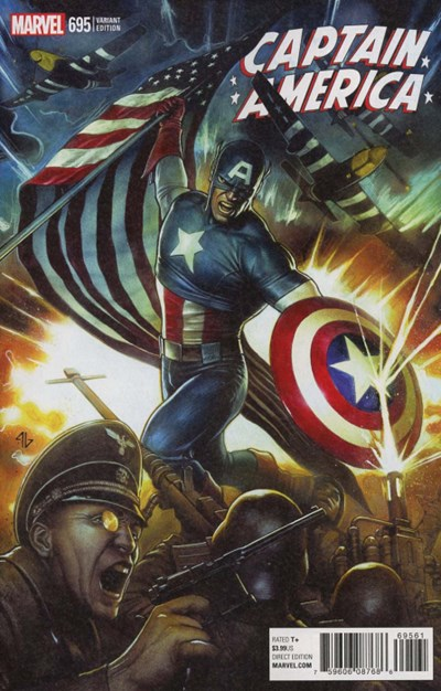 (Marvel) Cover for Captain America #695 Adi Granov Variant Cover. Limited 1 for 25.