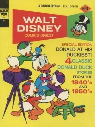 (Whitman) Cover for Walt Disney Comics Digest #44 1976 Whitman Edition. Smaller, blank back.