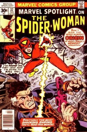 (Marvel) Cover for Marvel Spotlight #32 1st Appearance and Origin of Spider Woman (Jessica Drew)
