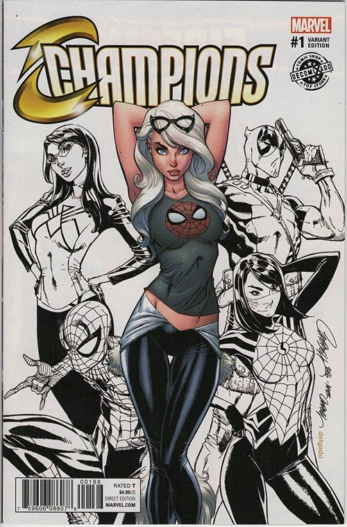 (Marvel) Cover for Champions #1 Decomixado Exclusive Limited Color Variant by J Scott Campbell