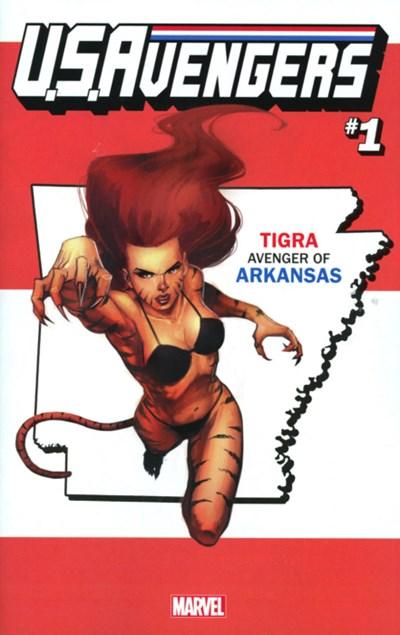 (Marvel) Cover for U.S.Avengers #1 Rod Reis Arkansas State Variant Cover