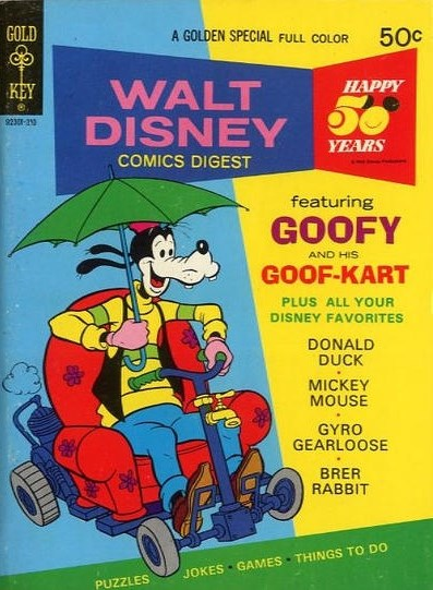 (Gold Key) Cover for Walt Disney Comics Digest #43