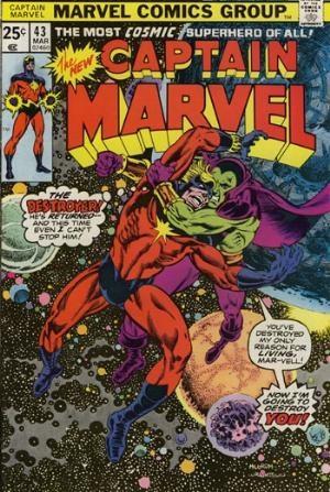 Comic Cover for Captain Marvel (#43)