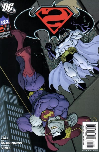 (DC) Cover for Superman / Batman #22 Cameo of Batman Beyond in Continuity