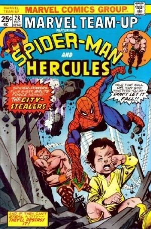 Comic Cover for Marvel Team-Up (#28)