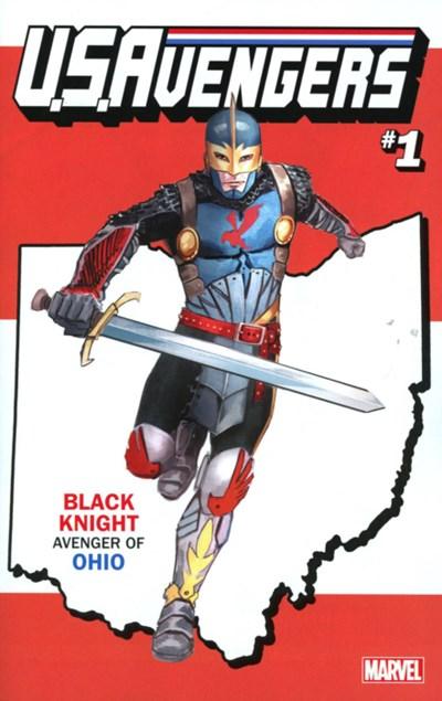 (Marvel) Cover for U.S.Avengers #1 Rod Reis Ohio State Variant Cover