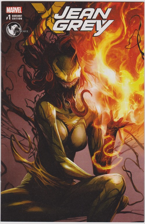 (Marvel) Cover for Jean Grey #1 Unknown Comics Exclusive Francesco Mattina Venomized Variant Cover A Limited to 3000