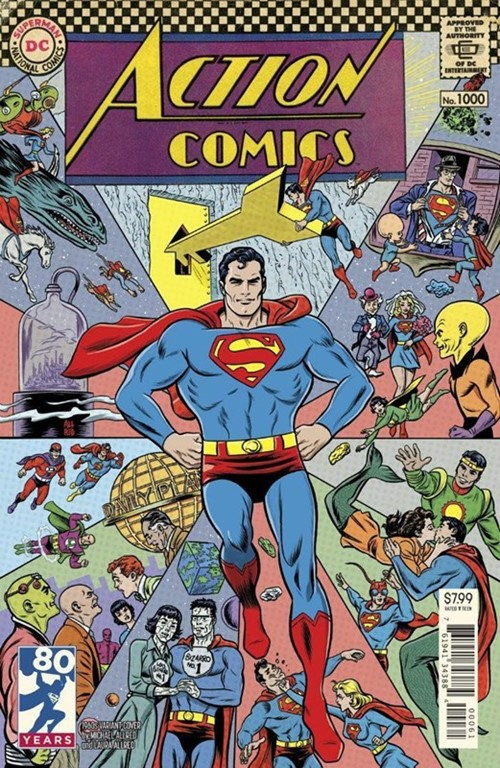 (DC) Cover for Action Comics #1000 Michael Allred 1960s Variant Cover