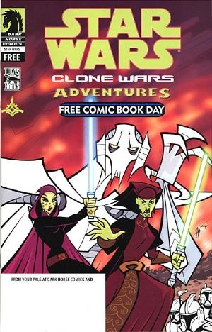 (Dark Horse) Cover for Star Wars: Clone Wars Adventures #1 FCBD Edition. 1st Appearance of General Grievous (Cybernetic Jedi Hunter).