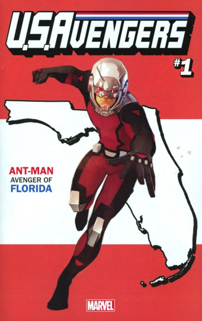 (Marvel) Cover for U.S.Avengers #1 Rod Reis Florida State Variant Cover