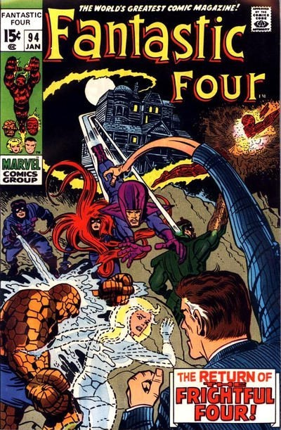 (Marvel) Cover for Fantastic Four #94 1st Appearance of Agatha Harkness, WandaVision tie in .1st Bronze Age Issue