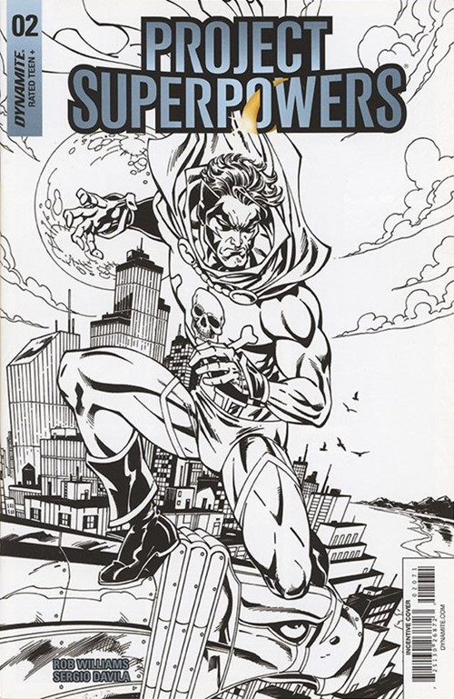 (Dynamite Entertainment) Cover for Project Superpowers: Chapter Three #2 John Royle Black & White Incentive Cover. Limited 1 for 20.