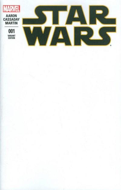 (Marvel) Cover for Star Wars #1 Blank Variant Cover
