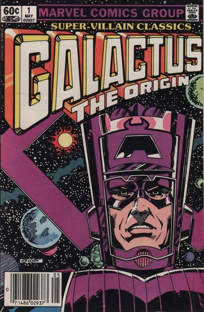 (Marvel) Cover for Super-Villain Classics #1 Origin of Galactus - Connects to Black Winter. Newsstand Edition